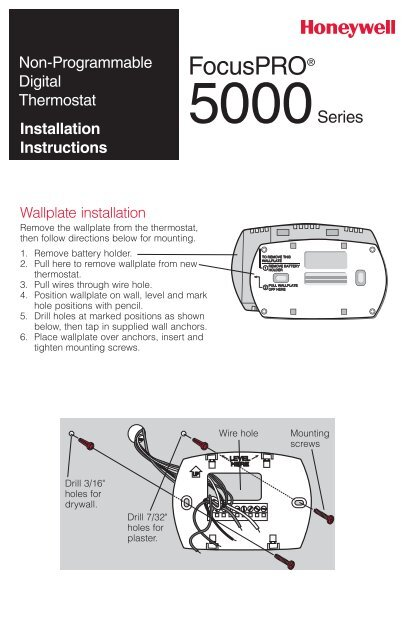Honeywell Focuspro 5000 Wiring Diagram