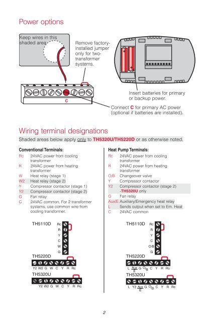 Programmable Thermostat Wiring Diagram