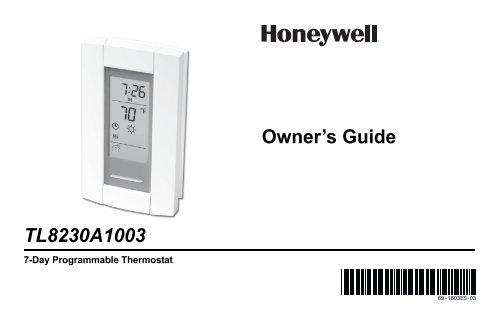honeywell linevoltpro 8000 7 day programmable electric heat rh manualsmania com