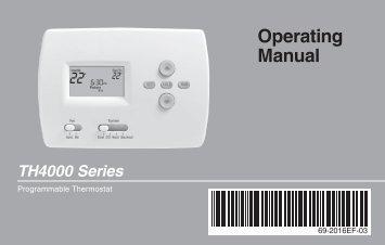 honeywell pro 4000 thermostat manual