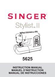 Singer Stylist II - English, French, Spanish - User Manual