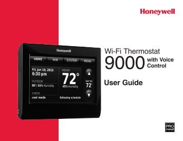 Honeywell Wi-Fi 9000 with Voice Control - 7-Day Programmable Thermostat (TH9320WFV6007) - Wi-Fi 9000 Programmable Thermostat with Voice Control Owner's Manual (English,French,Spanish)
