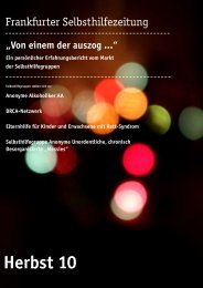 Herbst 10 - Selbsthilfe-Kontaktstelle Frankfurt e.V.