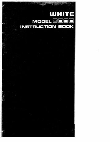 Singer W8000 - English - User Manual