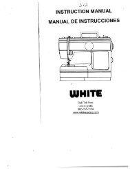 Singer W312 Classic - English - User Manual