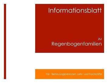 Informationsblatt zu Regenbogenfamilien (von Lisa Herrmann