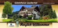 Hausprospekt Gästehaus Laubertal