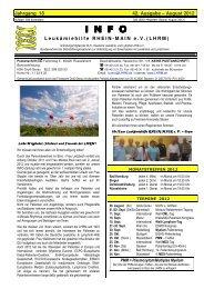 August 2012 INFO - Leukämiehilfe RHEIN-MAIN geV