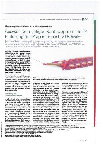 Rabe T, Luxembourg B, Ludwig M, Dinger J - Gerinnungszentrum ...