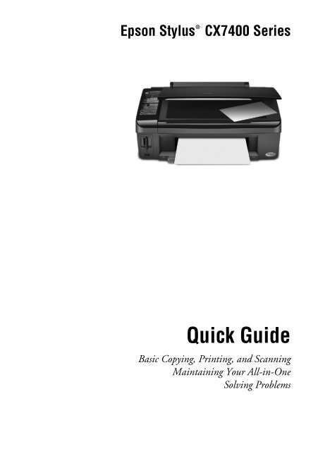 epson epson stylus cx7400 all in one printer manual and user guide rh manualsmania com epson stylus dx7400 manual epson stylus dx7400 manuale