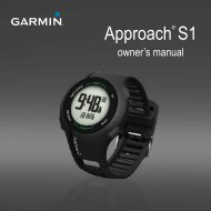 Garmin Approach® S1, Australia and New Zealand - Owner's Manual