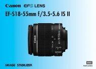 Canon EF-S 18-55mm f/3.5-5.6 IS II - EF-S18-55mm f/3.5-5.6 IS II Instruction Manual