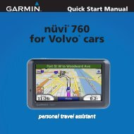Garmin nüvi® 760 for Volvo Cars - Quick Start Manual