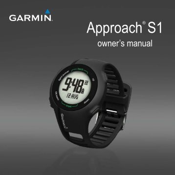 Garmin Approach® S1, Europe - Owner's Manual