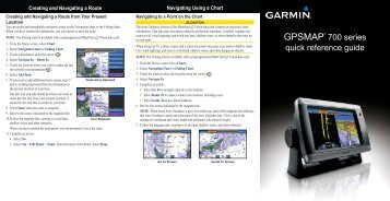 Garmin GPSMAP 740 - Quick Reference Guide