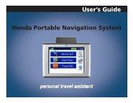 Garmin nuvi 350 GPS,OEM Honda Access,Canada - Owner's Manual