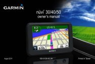 Garmin nüvi® 40, Middle East and North Africa - Owner's Manual