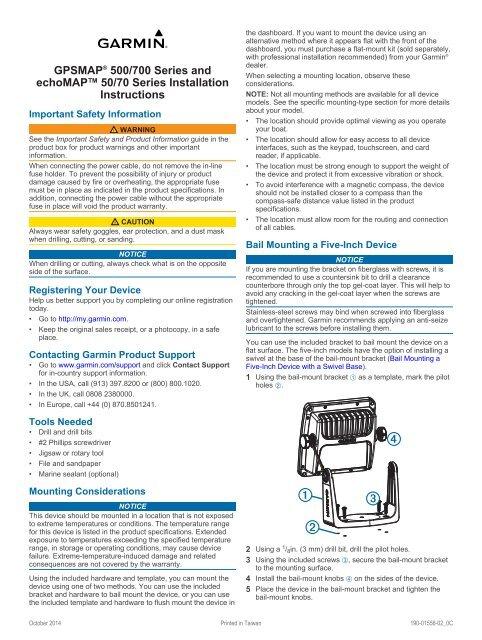 Garmin echoMAP™ 50dv Manual and user guide - ManualsMania
