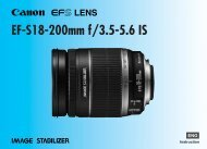 Canon EF-S 18-200mm f/3.5-5.6 IS - EF-S18-200mm f/3.5-5.6 IS Instruction Manual
