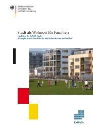 Stadt als Wohnort für Familien - Nationale Stadtentwicklungspolitik