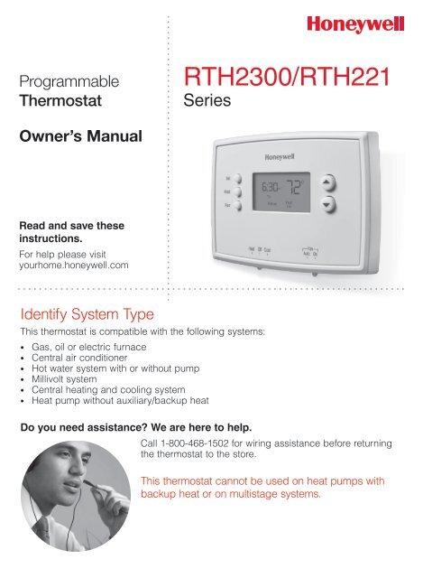 Honeywell thermostat manual rth221b1021 best setting instruction honeywell 1 week programmable thermostat rth221b1021 manual and rh manualsmania com honeywell thermostat wiring diagram honeywell thermostat rth221b1021 cheapraybanclubmaster Images