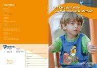 Kein Kind darf mehr an Mukoviszidose sterben! Jahresbericht 2006 ...