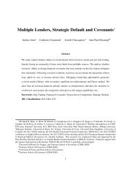 Multiple Lenders Strategic Default and Covenants