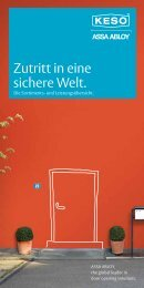 Die Sortiments - ASSA ABLOY (Switzerland) AG