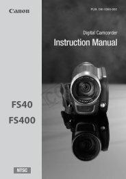 Canon FS40 - FS40 Instruction Manual