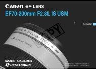 Canon EF 70-200mm f/2.8L IS USM - EF 70-200mm F2.8L IS USM Instruction Manual