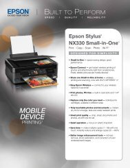 Epson Epson Stylus NX330 Small-in-One™ All-in-One Printer - Product Brochure