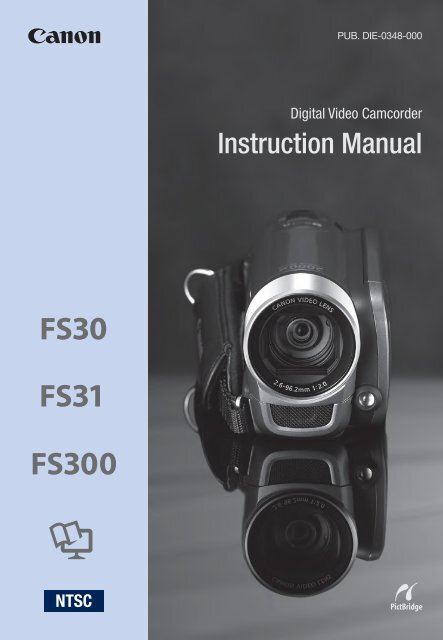 Canon FS30 - FS30 Instruction Manual