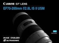 Canon EF 70-200mm f/2.8L IS II USM - EF 70-200mm f/2.8L IS II USM Instruction Manual