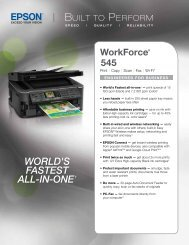 Epson Epson WorkForce 545 All-in-One Printer - Product Brochure