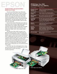 Epson Epson Stylus Scan 2500 All-in-One Printer - Product Brochure
