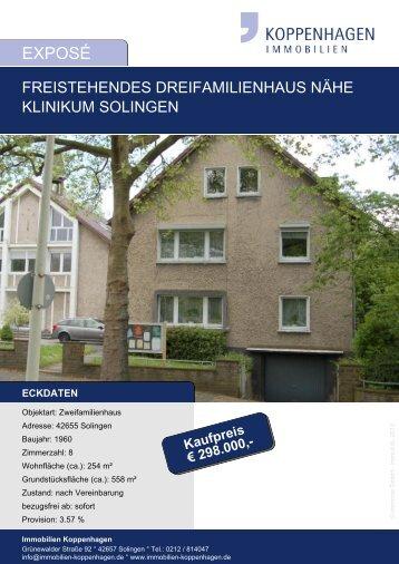 eckdaten - Immobilien Solingen