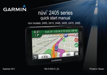 Garmin nüvi® 2405, Eastern and Central Europe - Quick Start Manual