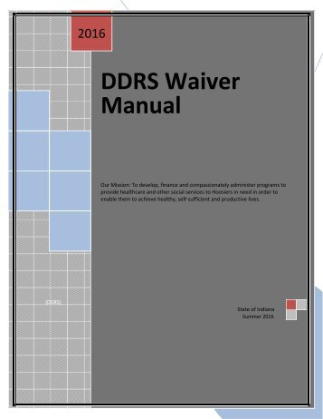 DDRS Waiver Manual