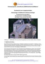 ZfS-Bericht Solingen KBzLV - Solar - so heizt man heute