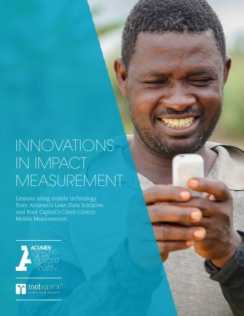 INNOVATIONS IN IMPACT MEASUREMENT
