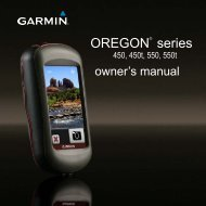 Garmin Oregon 550 GPS,Thai - Owner's Manual