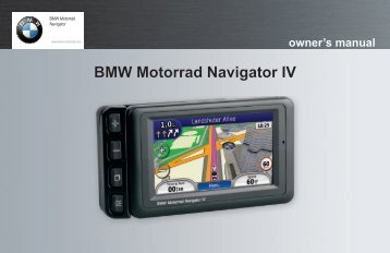 Garmin BMW Motorrad Navigator IV - Owner's Manual
