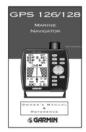 Garmin GPS 126 - Owner's Manual