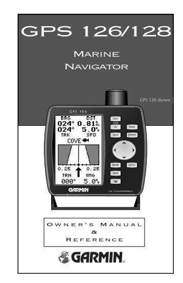 Garmin GPS 126 - Owner's Manual