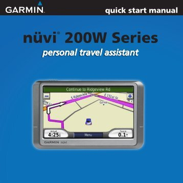 user manual garmin nuvi 260w 1 my pdf manuals rh yumpu com Garmin Nuvi 255W Manual GPS Garmin Nuvi Manual