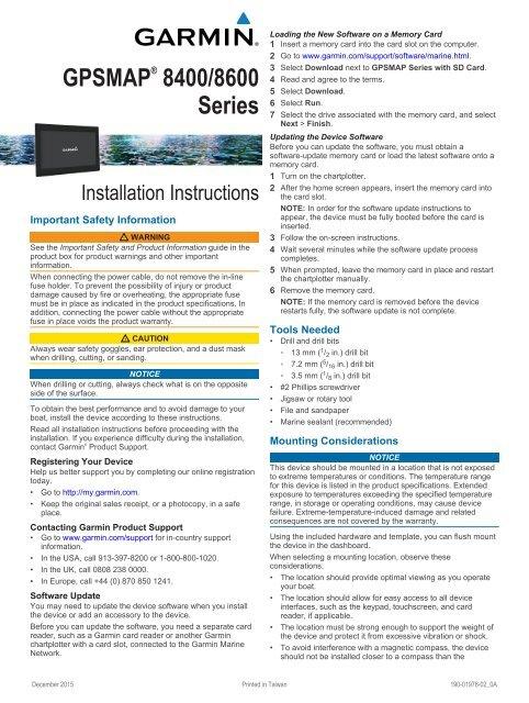 Garmin GPSMAP® 8617 MFD Manual and user guide - ManualsMania