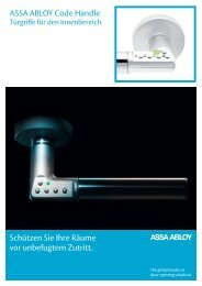 Technisches Datenblatt - ASSA ABLOY (Switzerland) AG