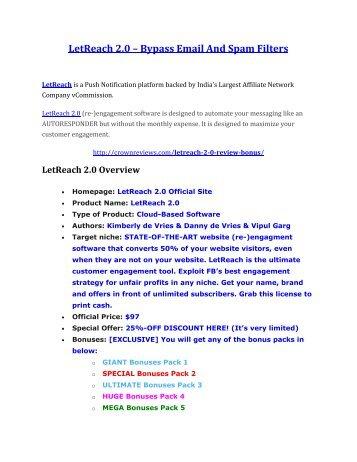 LetReach 2.0 Review-(FREE) $32,000 Bonus & Discount