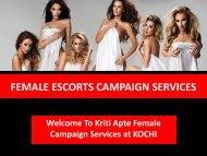 KRITI APTE FEMALE CAMPAIGN SERVICE AT KOCHI