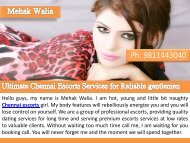 Ultimate Chennai Escorts Services for Reliable Gentlemen